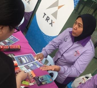 Info booth on safety talks, introductions to PDRM programmes, the new Volunteer Smartphone Patrol (VSP) app & Amanita.